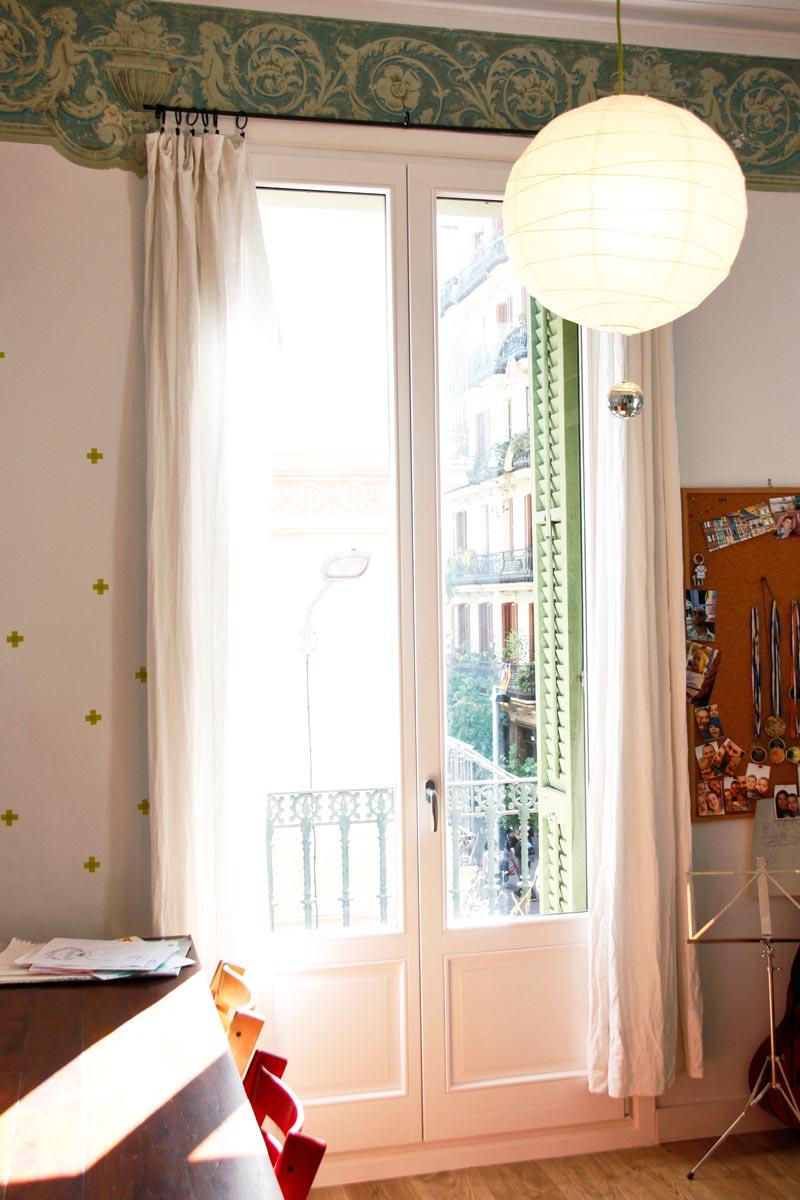 reforma de ventanas de madera en Barcelona fabricadas por Carreté Finestres-Silva68