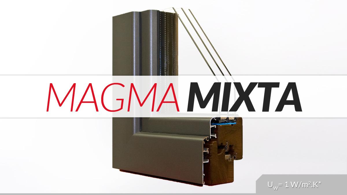 finestres mixtes de fusta i alumini catàleg finestres Carreté Finestres model Magma Mixta
