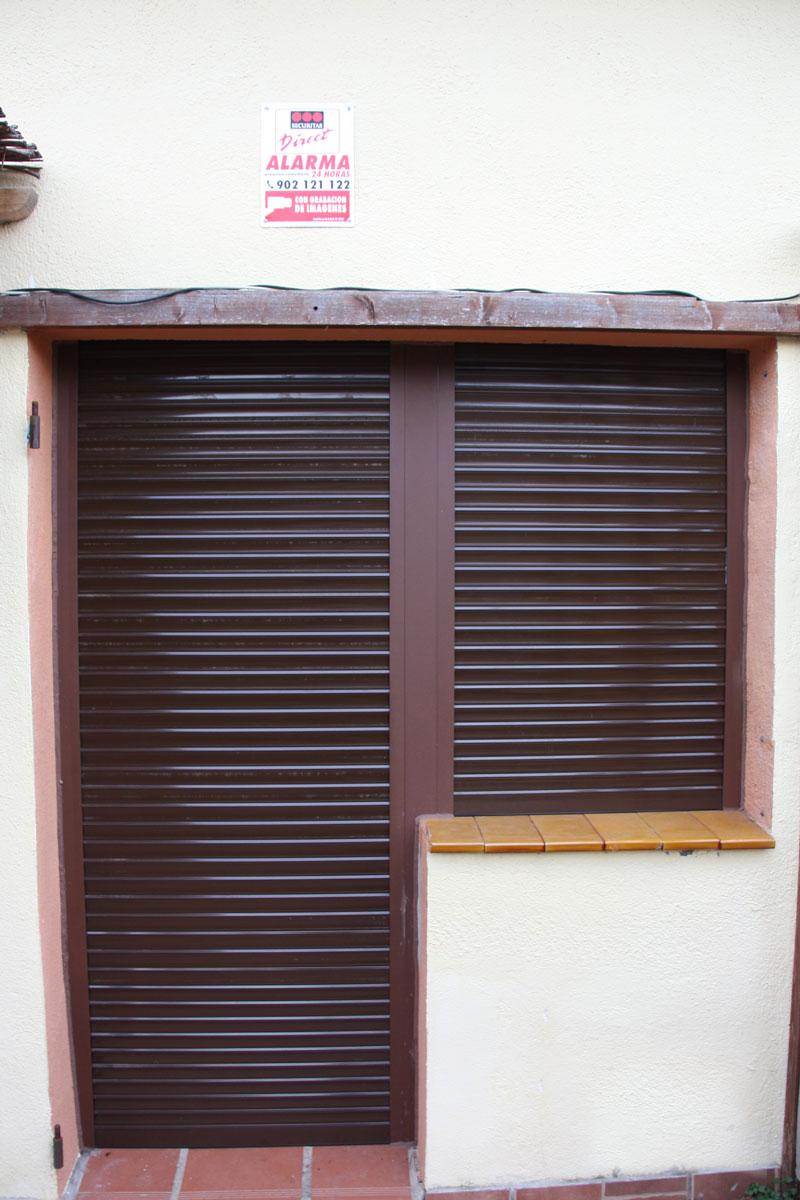 reforma ventanas mixtas de aluminio y madera en Priorat Carreté Finestres- cierres perfil europeo-persianas