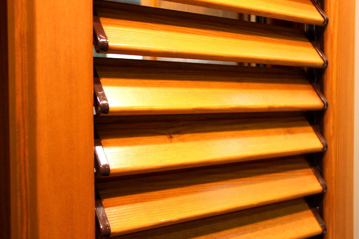 exposición ventanas mixtas de madera y aluminio catálogo fabrica de ventanas y cerramientos Carreté Finestres en ExproReus-persiana madera tradicional