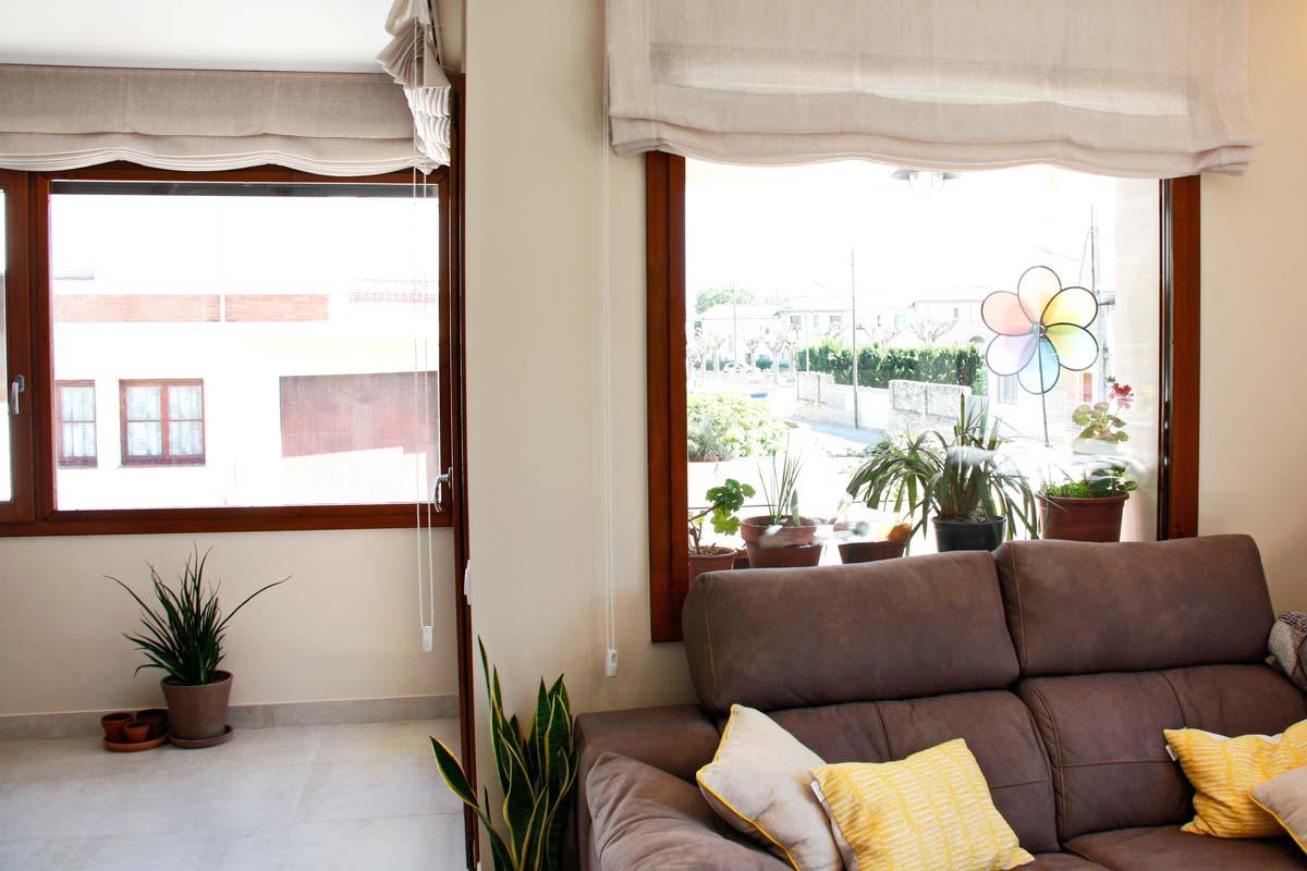 ventanas de madera de gran calidad y eficacia térmica con alta transmitancia térmica fabricadas por Carreté Finestres- Santa Coloma de Queralt
