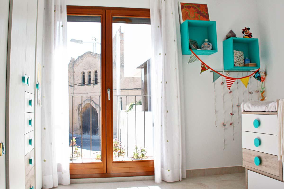 ventanas de madera fabricadas por la fábrica de ventanas de madera Carreté Finestres- Santa Coloma de Queralt