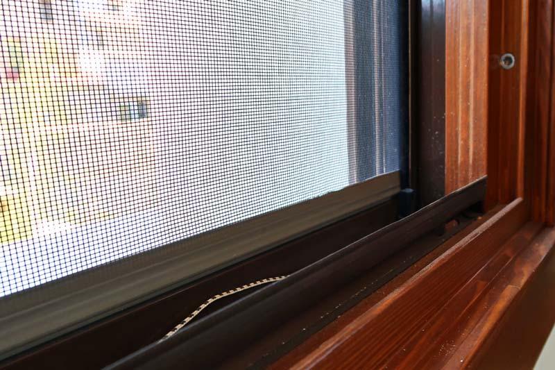 ventana de madera con mosquitera fácil mantenimiento-Santa Coloma de Queralt Conca de Barberà