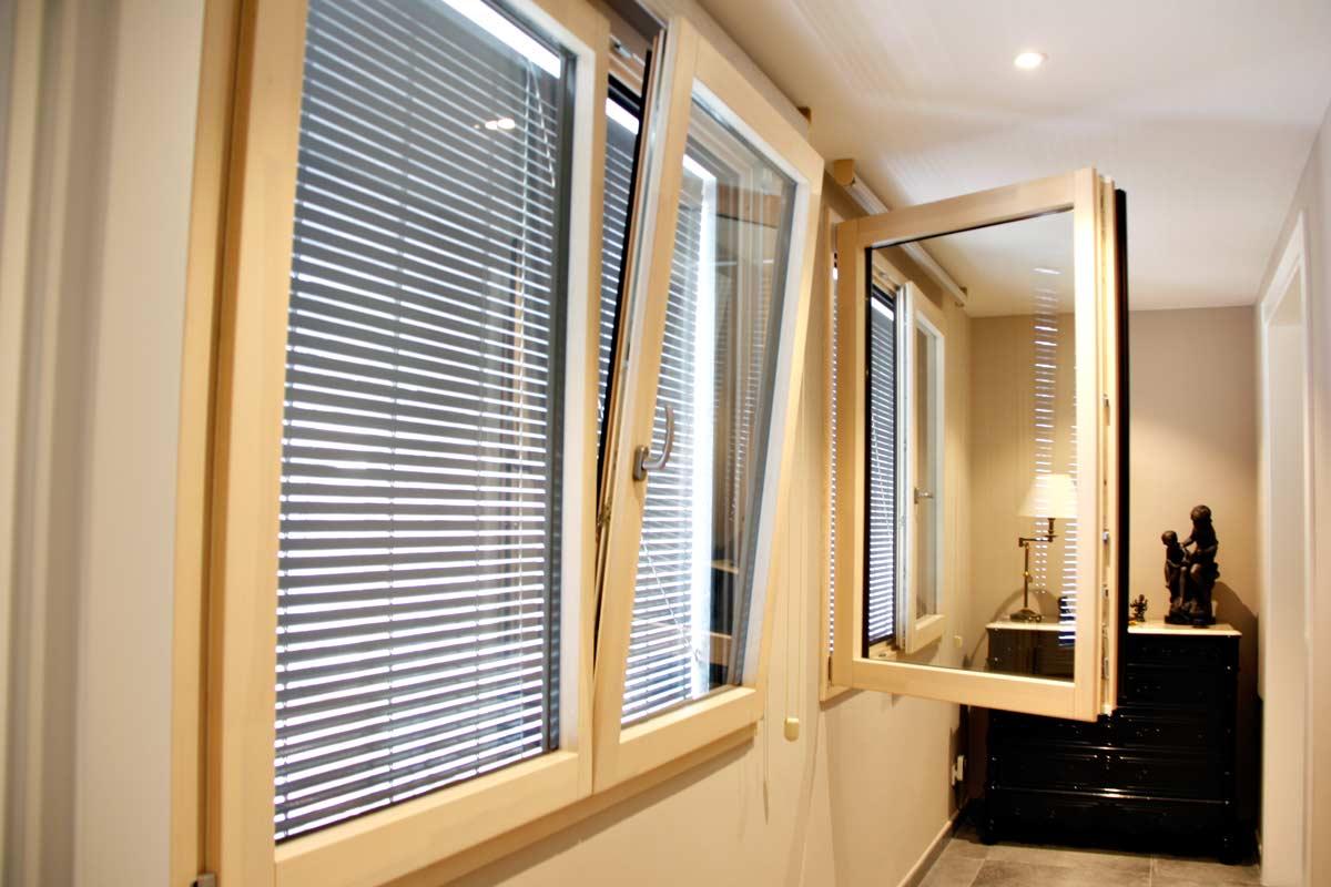 ventanas de madera aluminio y mixtas en Vilanova i la Geltru(Garraf) por Carreté Finestres-ventana mixta elevable-trasmitancia termica