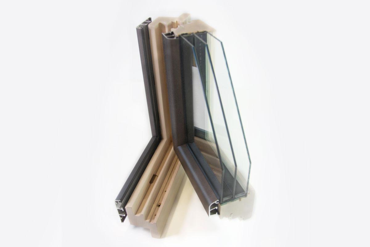 finestres de fusta i alumini amb perfil mixt model Magma catàleg finestres Carreté Finestres