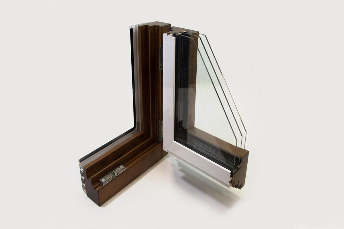 finestres mixtes de fusta i alumini model Magma catàleg finestres Carreté Finestres acabat alumini blanc