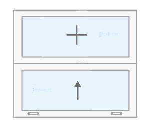 ventana guillotinacatalogo productos fabrica de ventanas y cerramientos Carreté Finestres