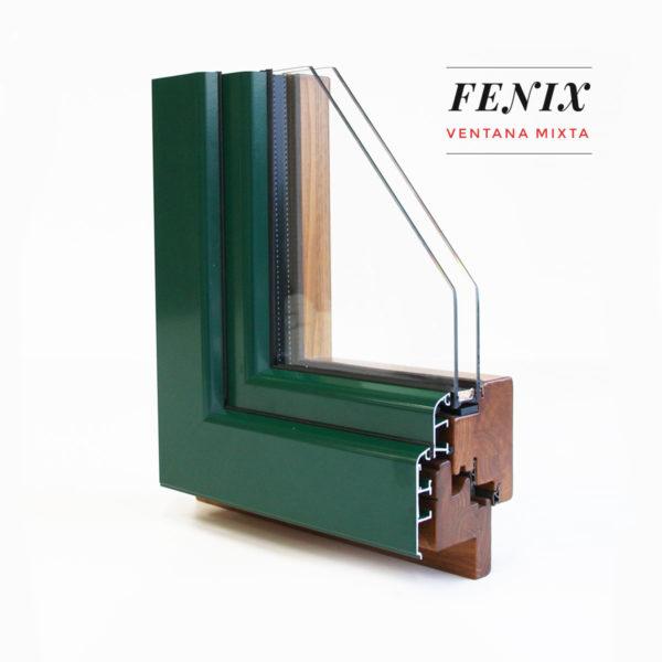 Carreté Finestres - ventana de madera interior y aluminio exterior mixta Fénix