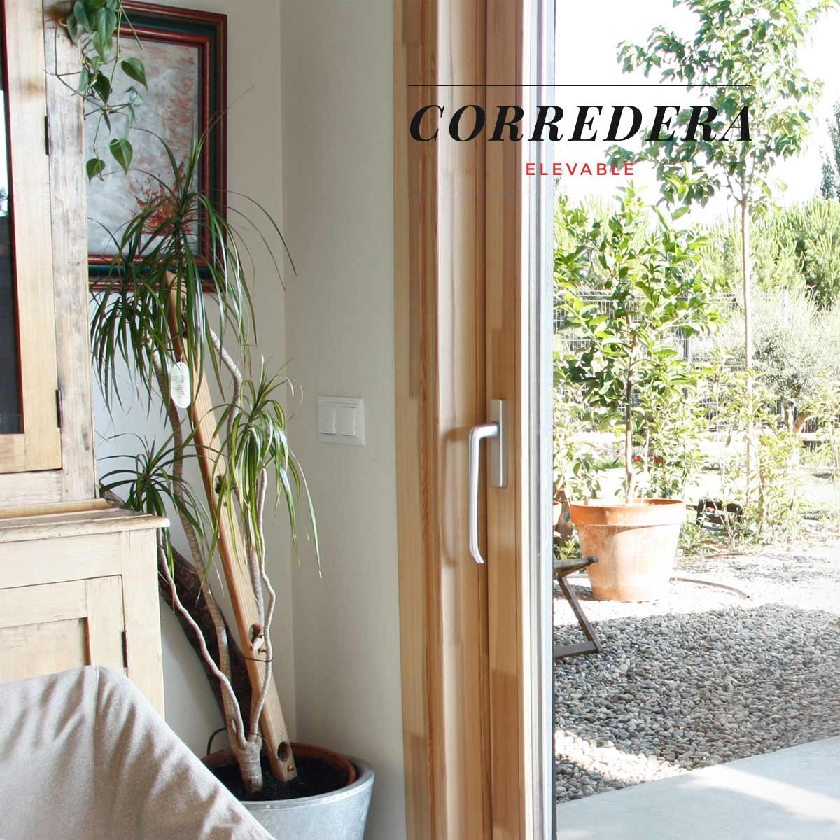Carreté Finestres - ventana de madera corredera elevable