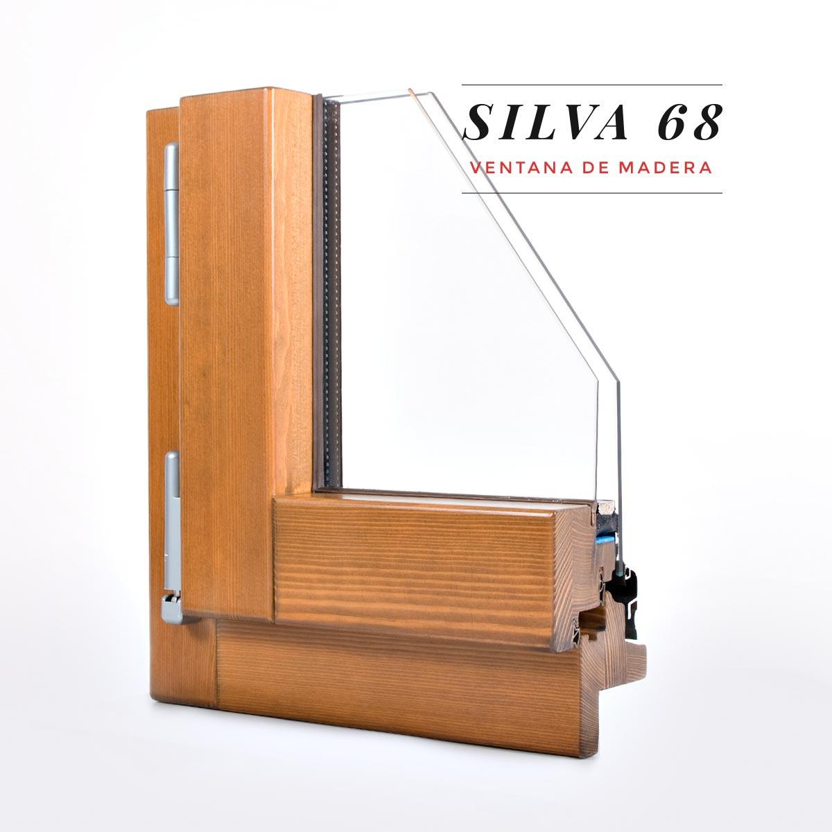 Finestra de fusta Silva 68 - finestra per a casa rural - Carreté Finestres