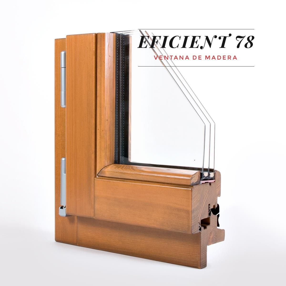 finestra de fusta Eficient 78 Carreté Finestres estalvi economic i energetic