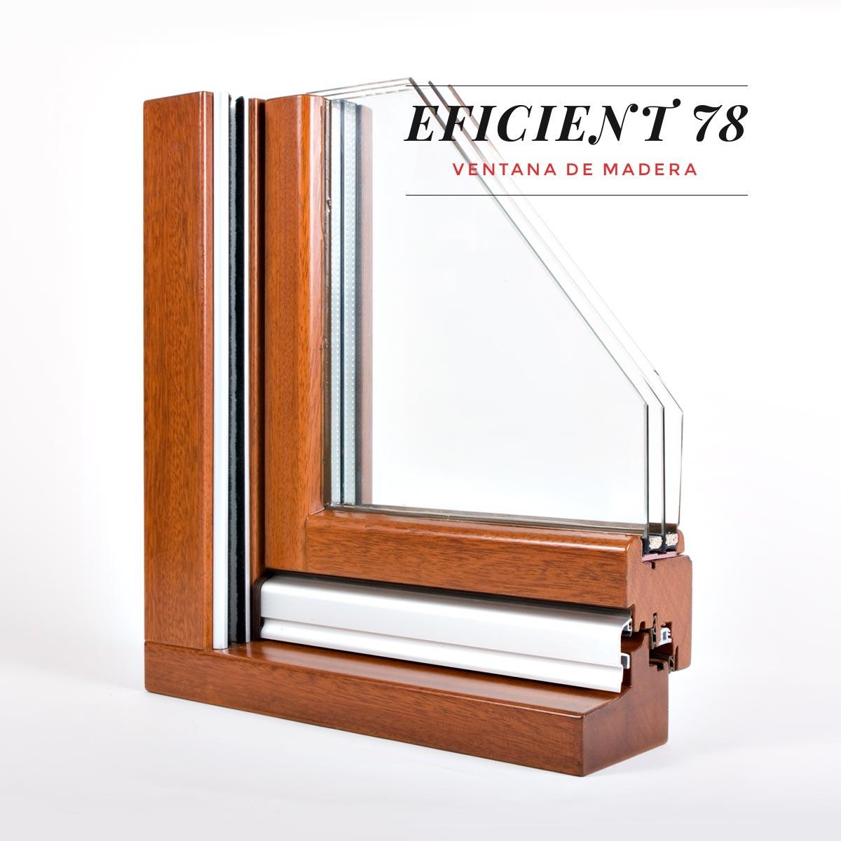 finestra de fusta Eficient 78 Carreté Finestres aïllament termic