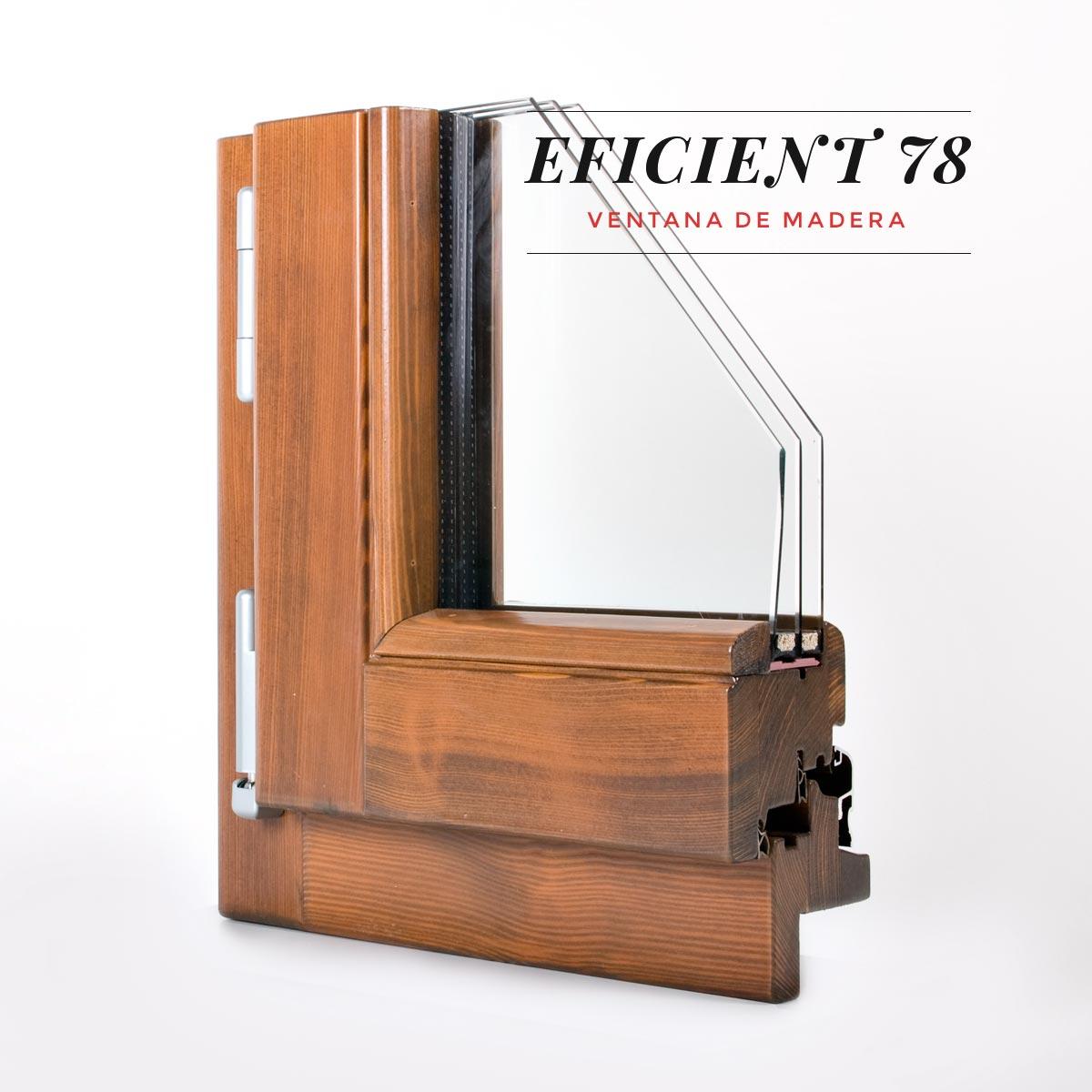 finestra de fusta Eficient 78 Carreté Finestres casas bioclimatques