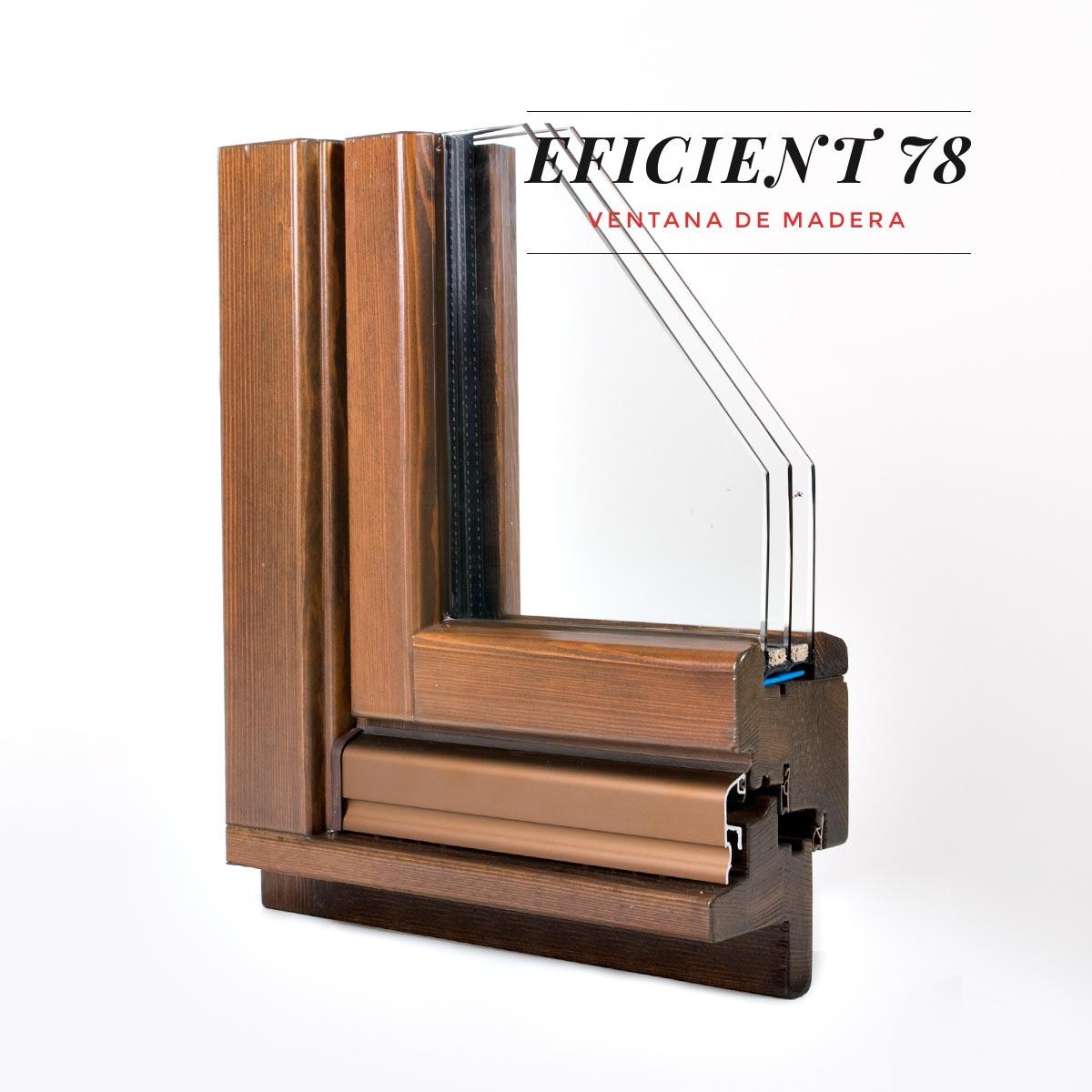 finestra de fusta Eficient 78 Carreté Finestres triple junta goma