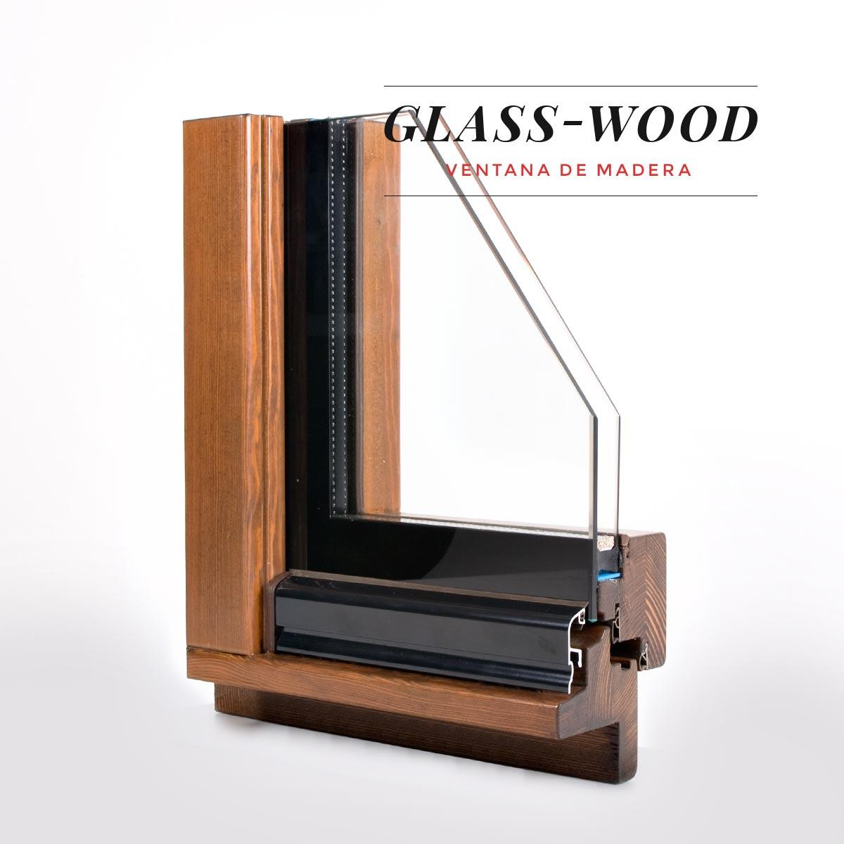 finestra de fusta Glass Wood Carreté Finestres eficiència tèrmica i acústica.