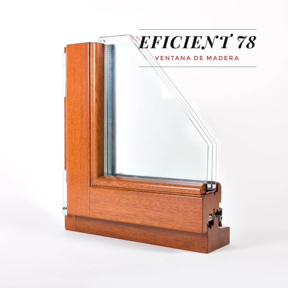 finestra de fusta Eficient 78 Carreté Finestres fusta de pi