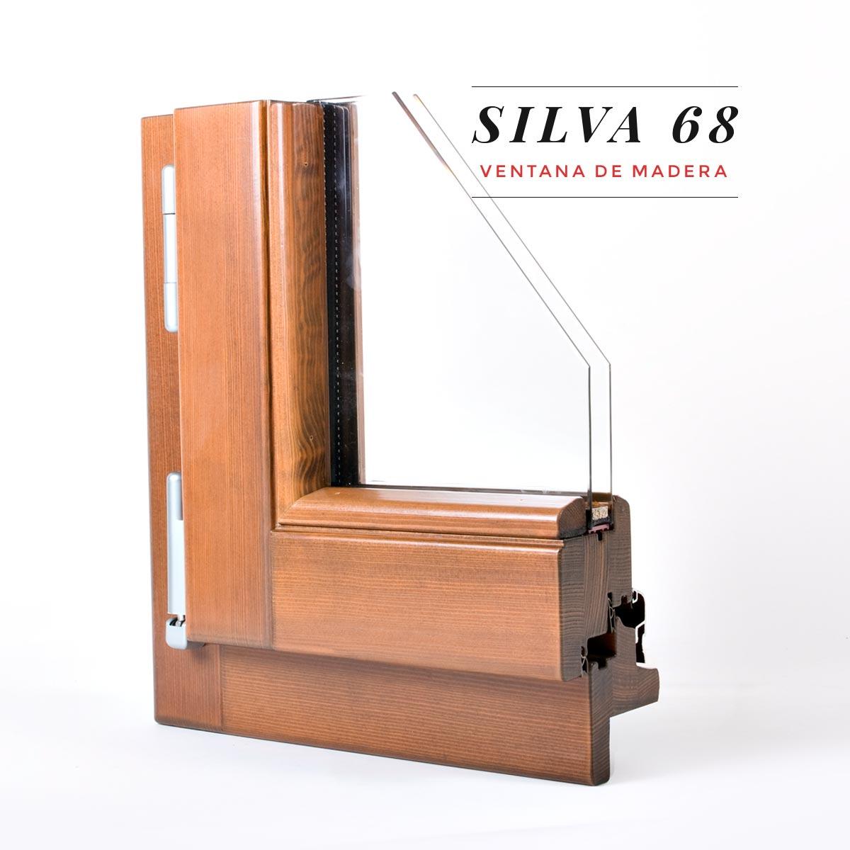Finestra de fusta Silva 68 - Aïllament tèrmic- Carreté Finestres