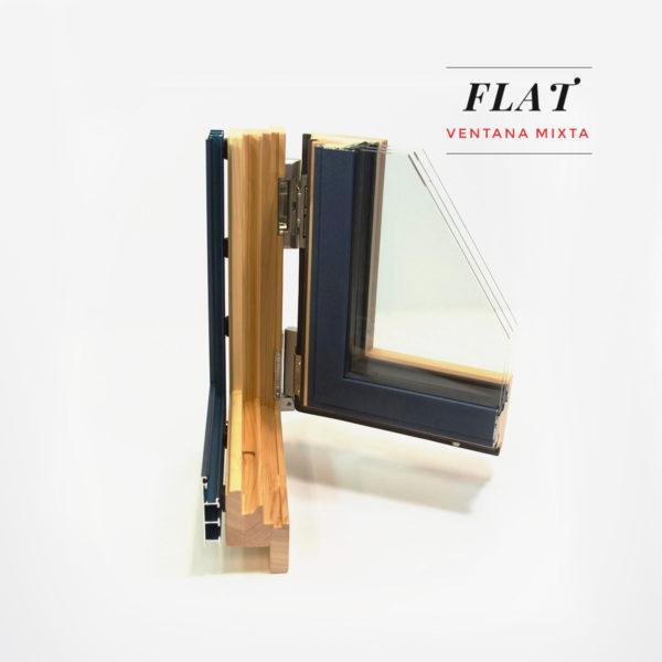 Carreté Finestres ventana mixta madera aluminio Flat