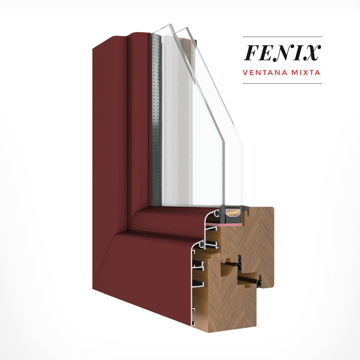 Carreté Finestres - finestra de fusta i alumini Fènix Mixta