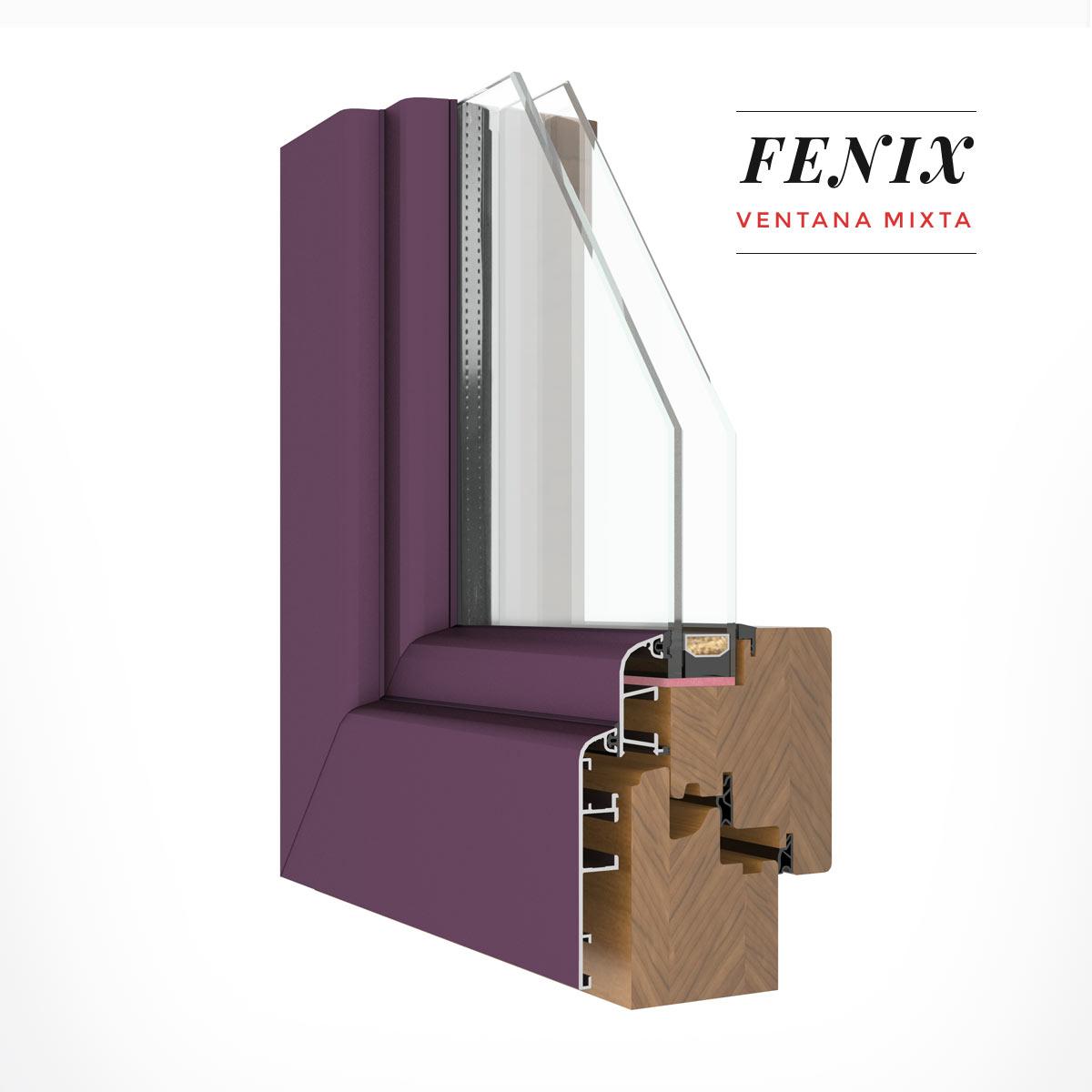 Carreté Finestres - finestres mixta de fusta i alumini de la seriï Fènix
