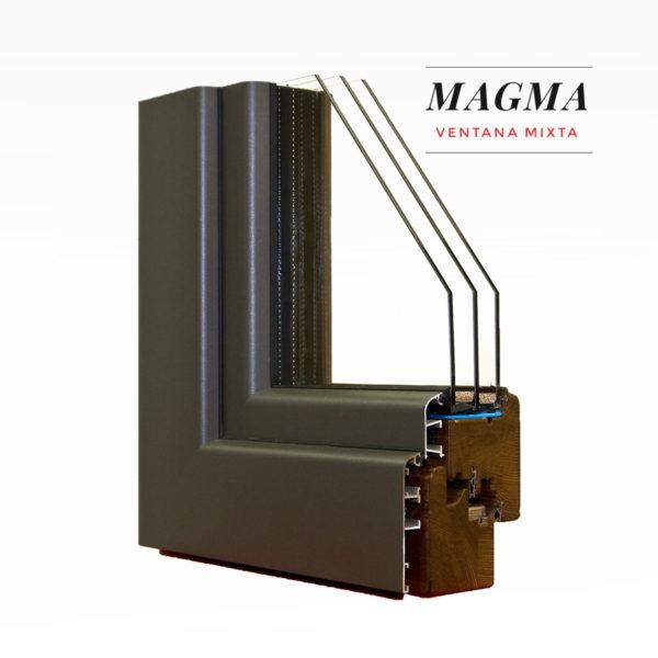 Carreté Finestres - ventana de madera y aluminio exterior - Ventanas mixtas Magma