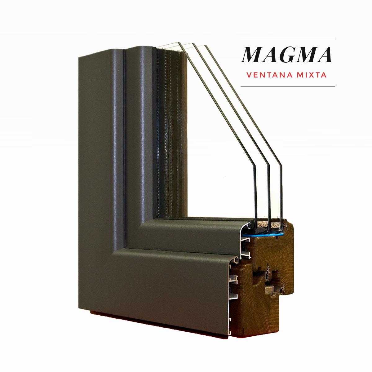 Carreté Finestres - finestra de fusta i alumini exterior - Finestra mixta Magma