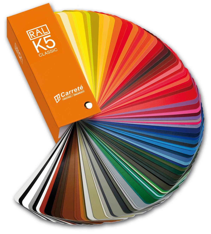 carta RAL de colores para ventanas de madera y aluminio de Carreté Finestres