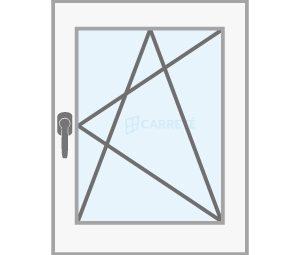 ventana practicable osicilobatiente catalogo productos fabrica de ventanas y cerramientos Carreté Finestres