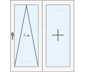 finestra oscilobatent paralela catàleg finestres de fusta y mixtes Carreté Finestres