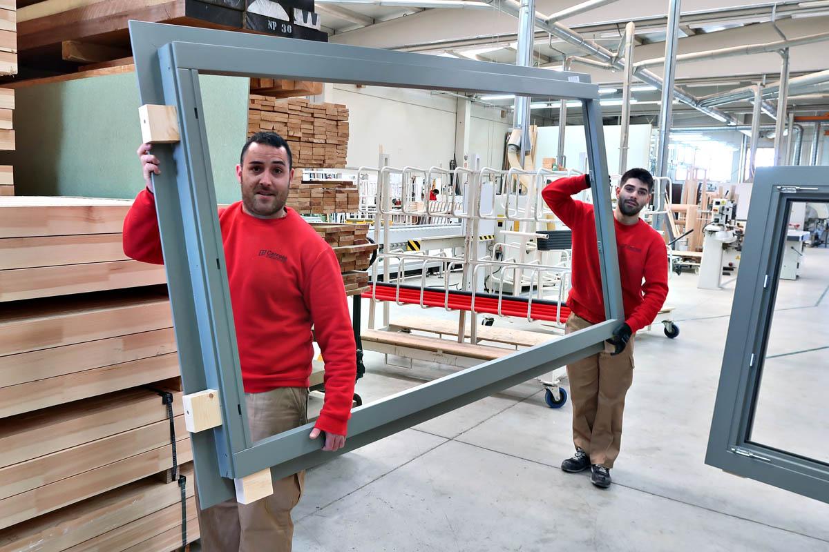 ventanas de madera Eficient 78 con aislamiento acústico para hotel en Valencia - Carreté Finestres