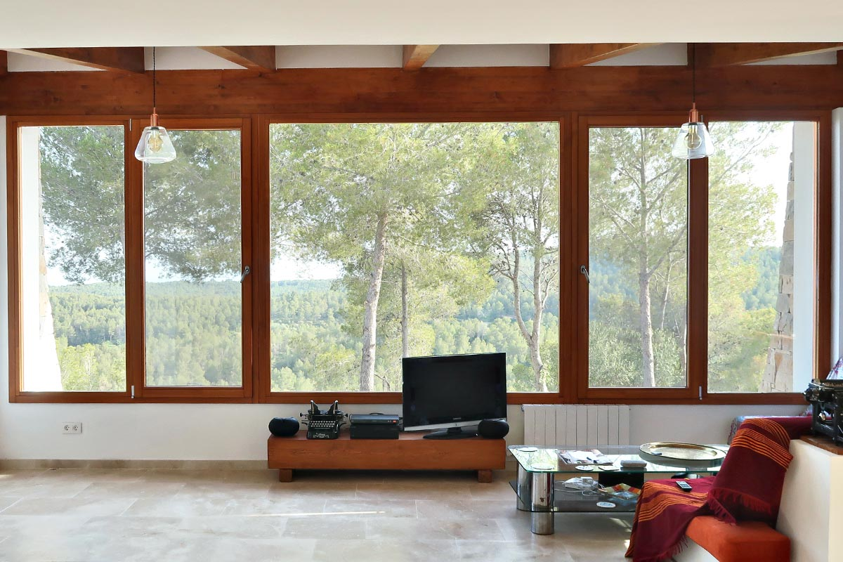 finestres de fusta a El Catllar - Silva. 68 de Carreté Finestres